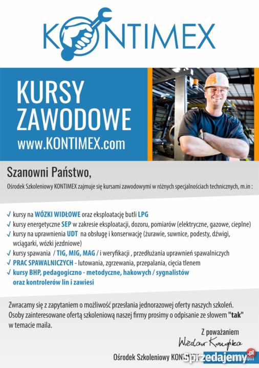 Kursy i szkolenia zawodowe, KONTIMEX, Warszawa